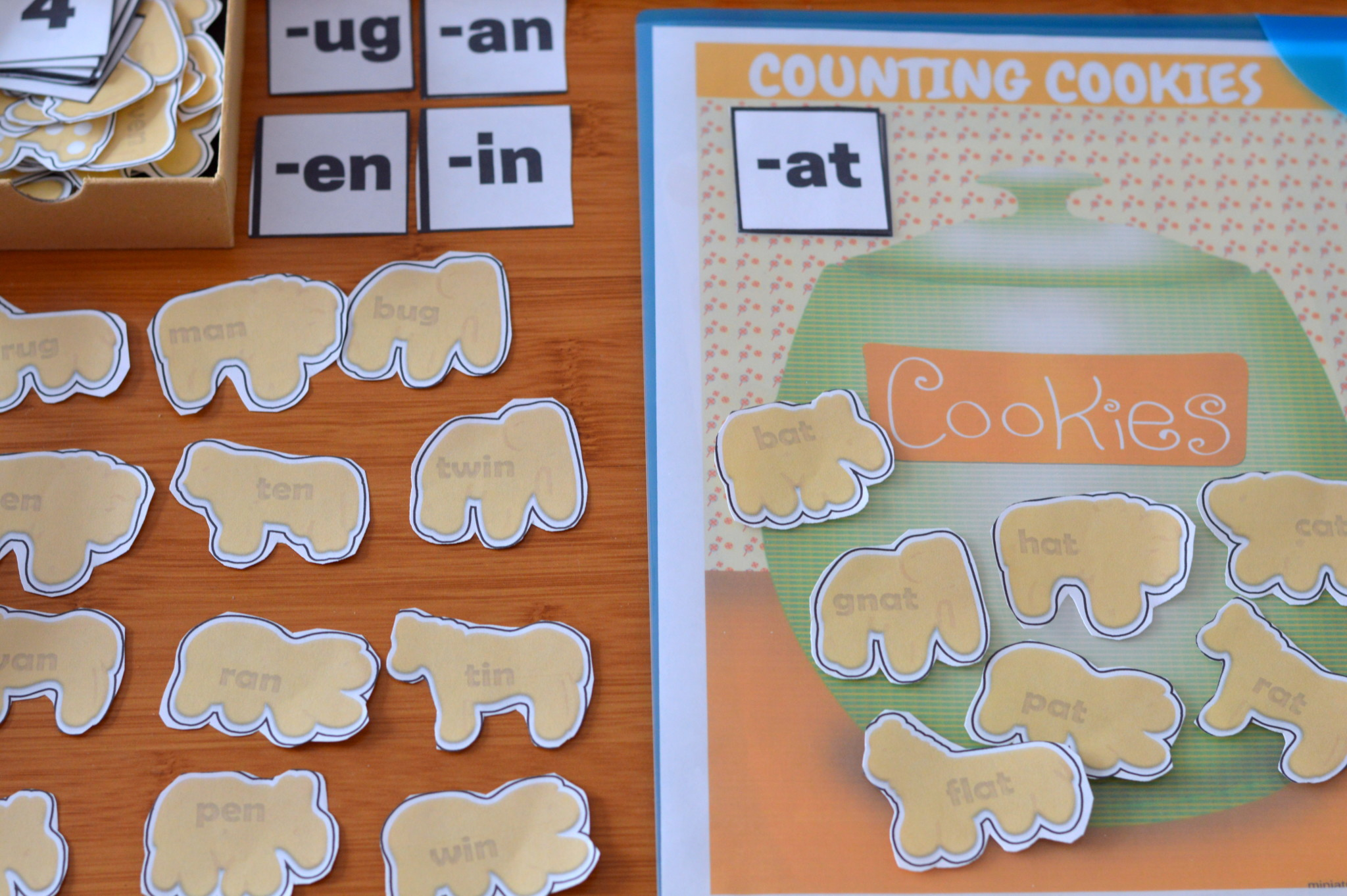 Animal Cookie Free Printable Counting And Word Family Activity Pack Clip Counting Cards, Word Family Practice, Counting Practice, and Number Mats,