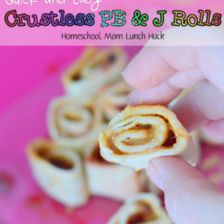 Quick And Easy Crustless PB & J Rolls - Homeschool Mom Lunch Hack 1