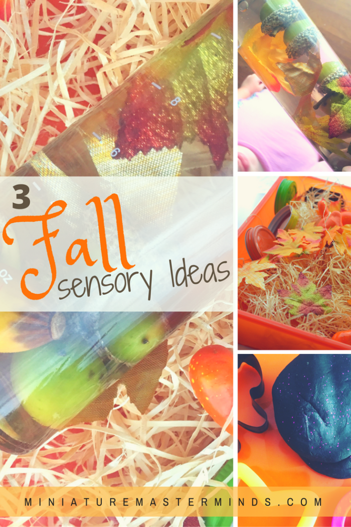 3-fall-seasonal-sensory-play-ideas-sensory-bottle-sensory-bin-and-halloween-themed-play-dough