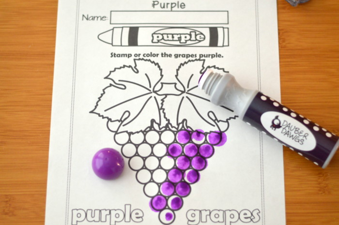 I know my colors printable work book series 9 page for The color purple book pages
