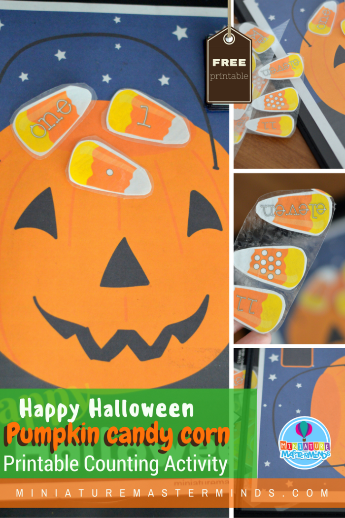 Halloween Pumpkin Candy Corn Trick Or Treat Counting Activity