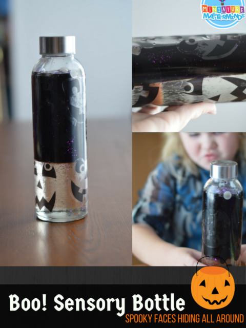 Boo! Hiding Faces Halloween Sensory Bottle For Preschoolers And Toddlers