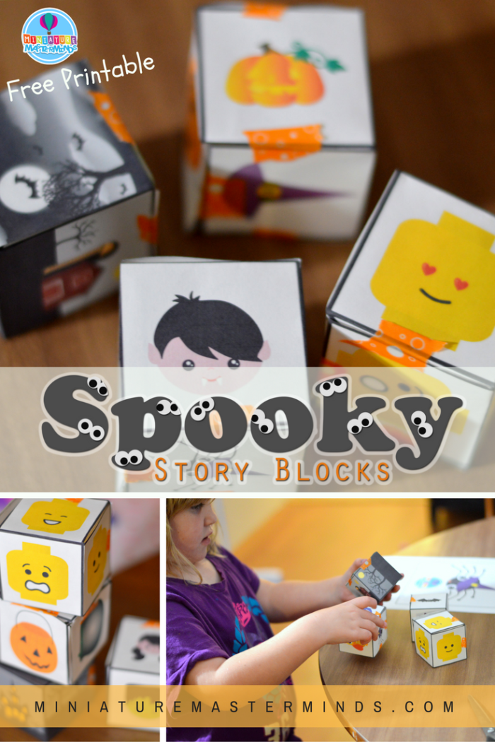 Spooky Story Blocks Tells A Scary Story Free Printable Preschool Activity Miniature Masterminds