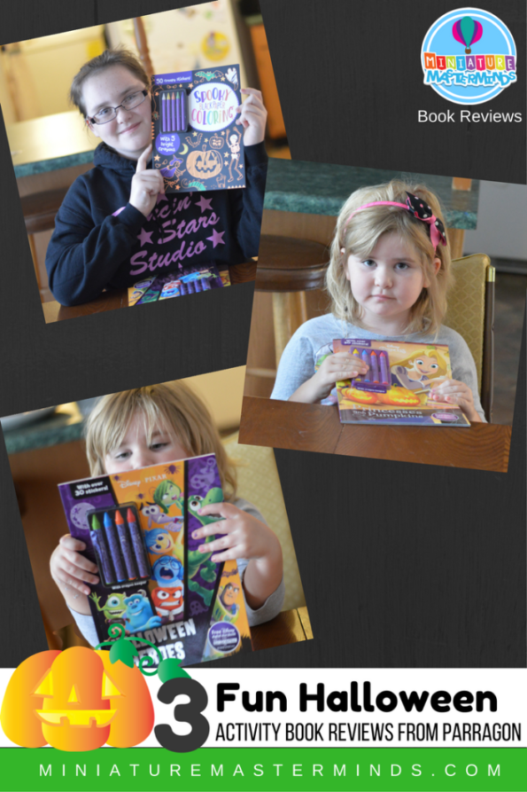 Three Halloween themed activity book reviews from Parragon Books