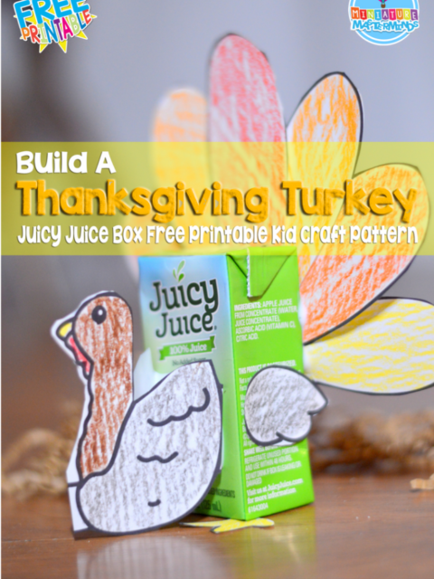 Build A Thanksgiving Turkey Juicy Juice Box Free Printable Kid Craft Pattern