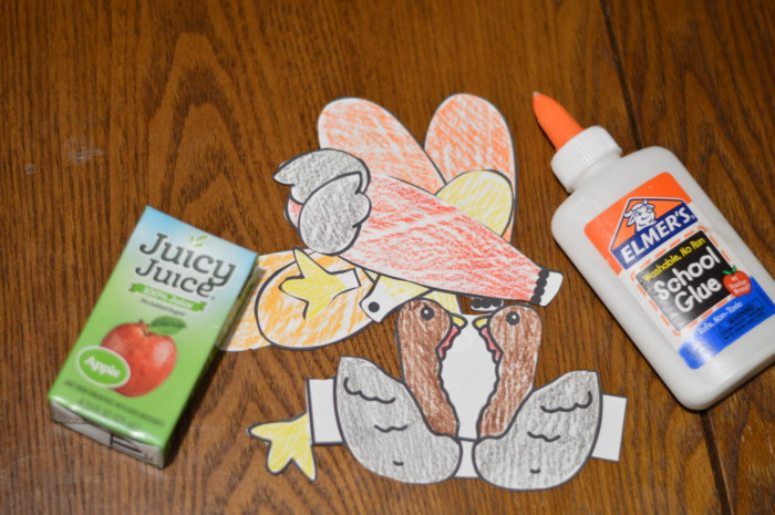 Build A Thanksgiving Turkey Juicy Juice Box Free Printable Kid Craft Pattern