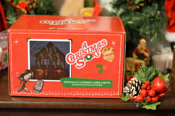 deck the homes a christmas story themed laser light decoration review