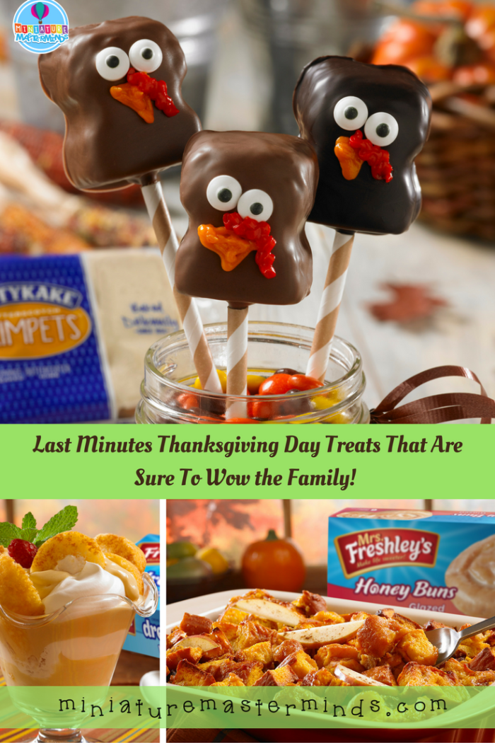 Last Minutes Thanksgiving Day Treats That Are Sure To Wow the Family!