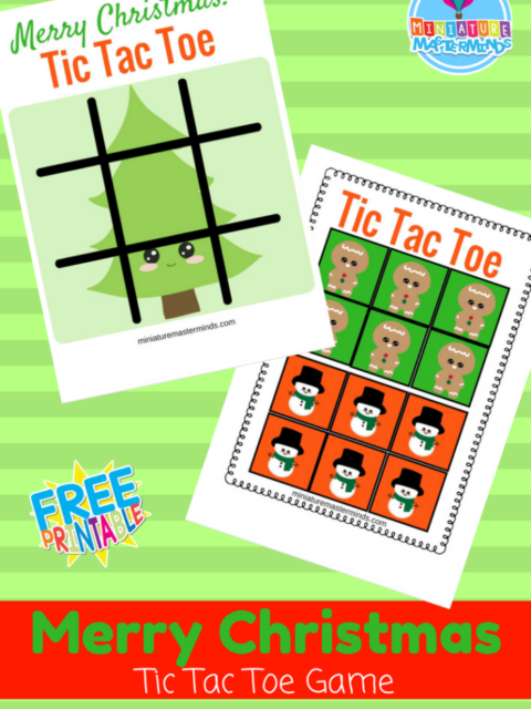 Merry Christmas Printable Tic Tac Toe Game