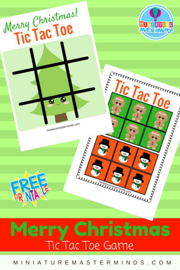 Merry Christmas Printable Tic Tac Toe Game