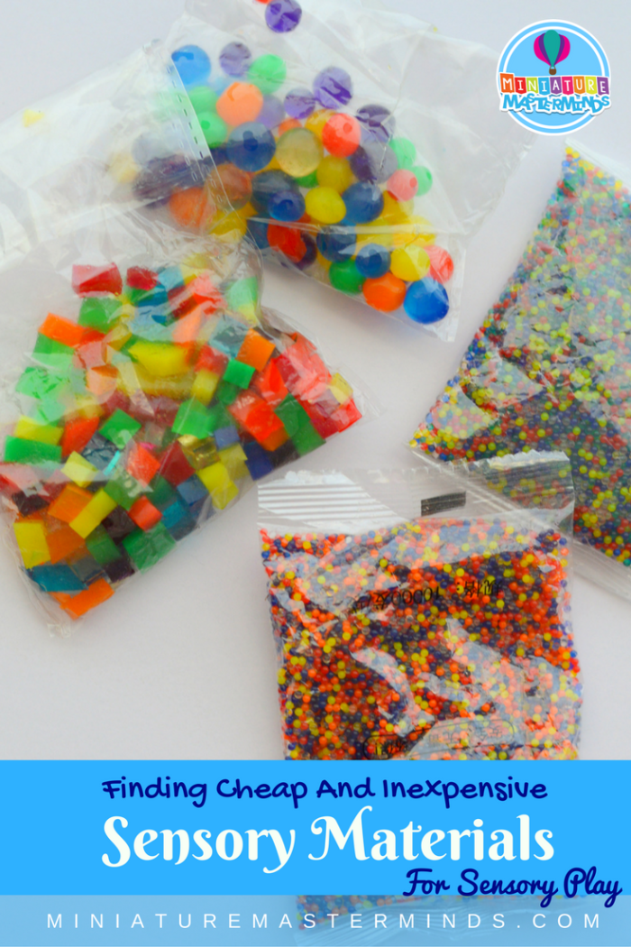 Where To Find Cheap Sensory Play Materials Such As Giant Water Beads, Water Beads, Square Water Beads and More!