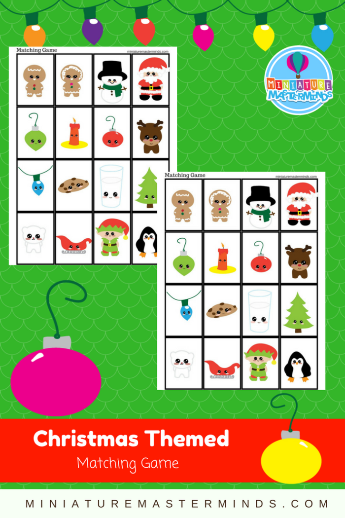 Christmas Themed Matching Game