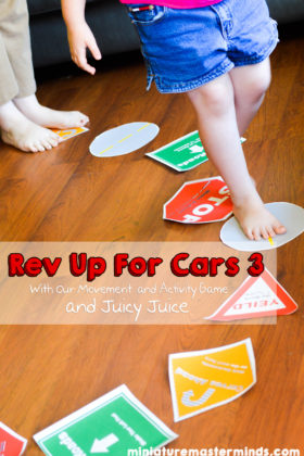 Rev Up For Cars 3 With Our Movement/Activity Game and Juicy Juice