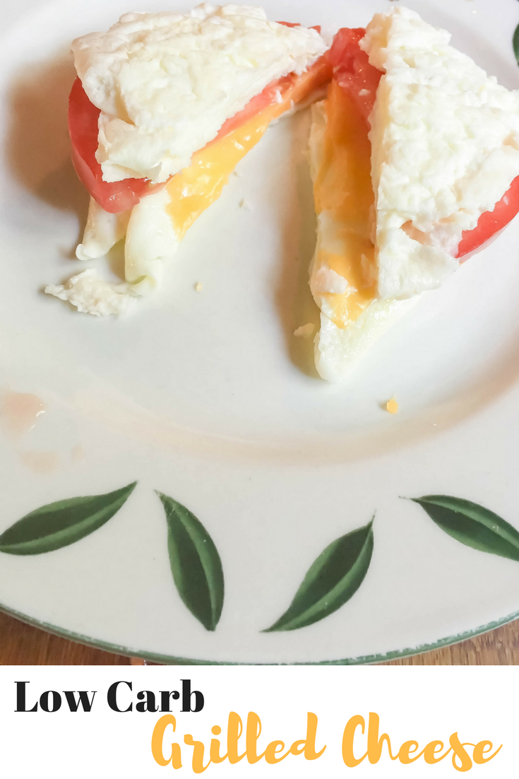 Low Carb Grilled Cheese Egg White Sandwich