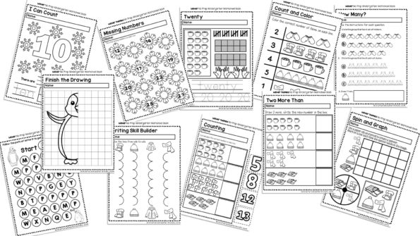 Winter No Prep Kindergarten 70 Page Worksheet Book Miniature. I Also Included Some Animal Mom And Baby Activities As Well A Worksheet Focused On Hibernation. Kindergarten. Hibernation Printables For Kindergarten At Clickcart.co