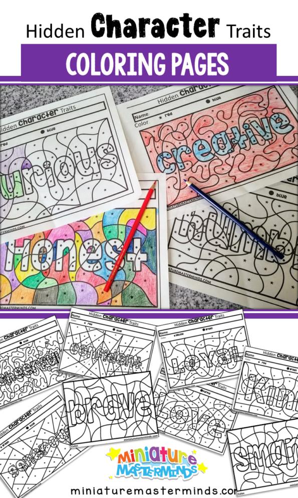 Hidden Character Traits Preschool Coloring Pages 000 KB