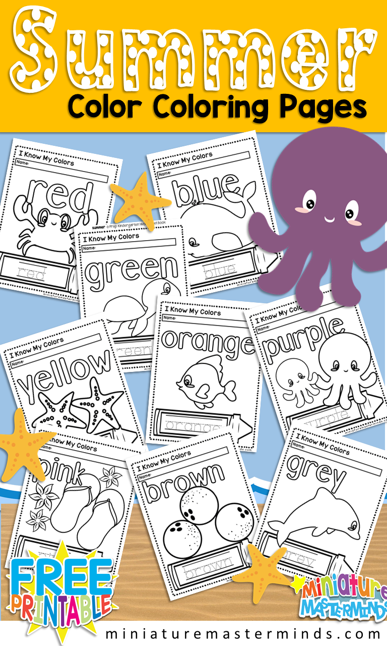 Printable Coloring Pages Counting 1-10 in English and Spanish ...