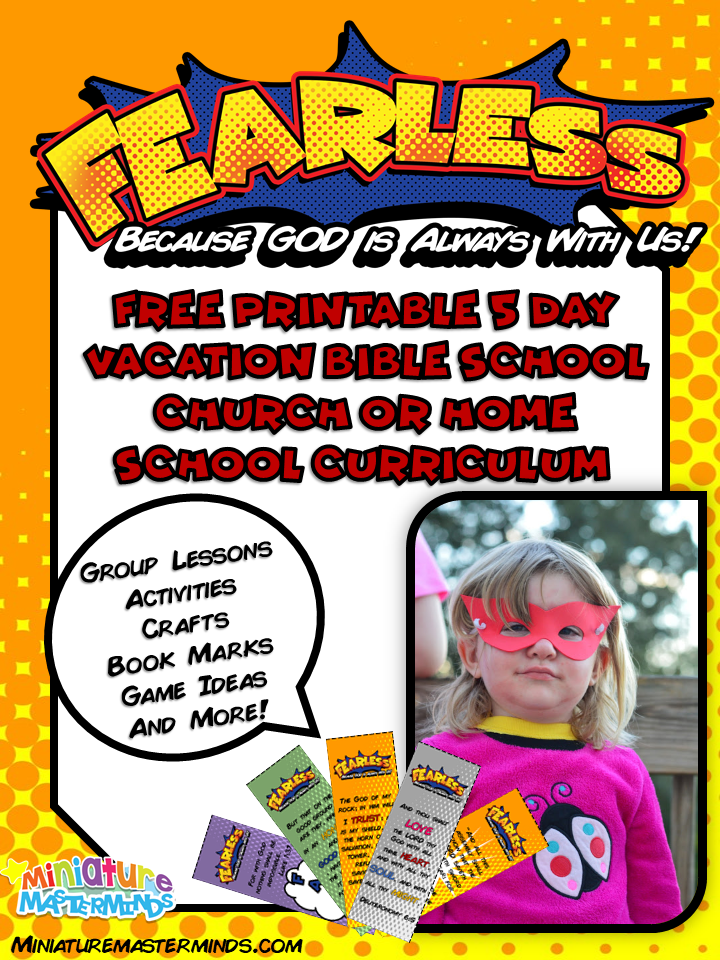 Fearless – Free Printable 5 Day Vacation Bible School or Home School Curriculum KJV