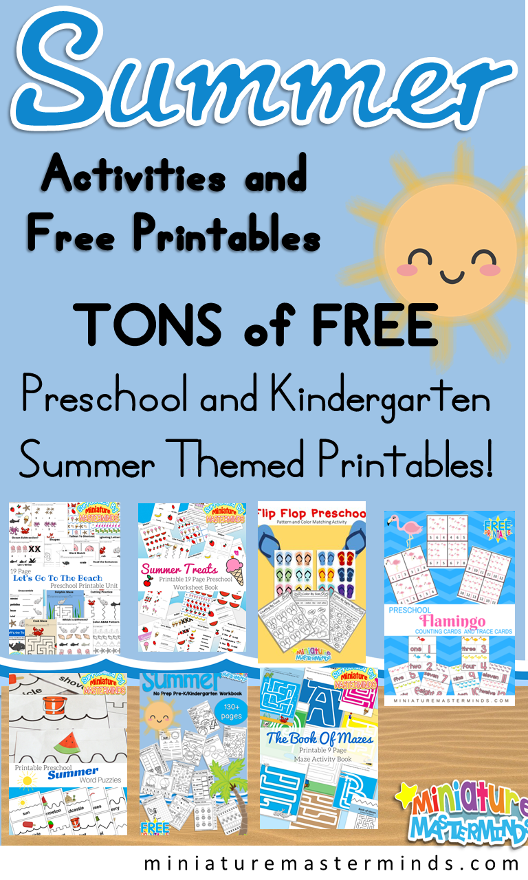 Summer Activities And Printables – Miniature Masterminds