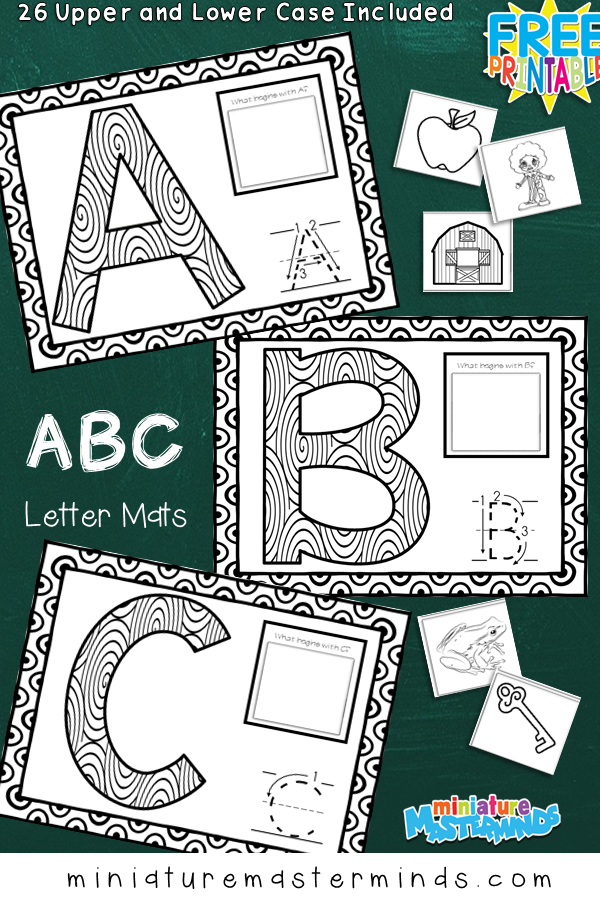 ABC Letter Mats Upper And Lower Case Letters