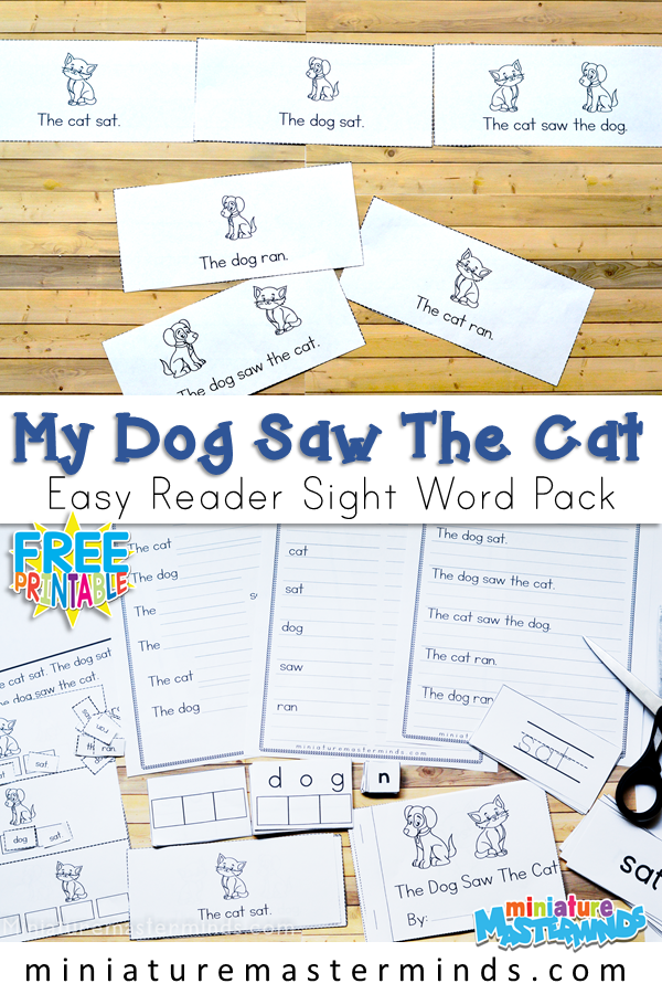 photo regarding Printable Sight Word Books titled Printable Guides Archives ⋆ Miniature Masterminds