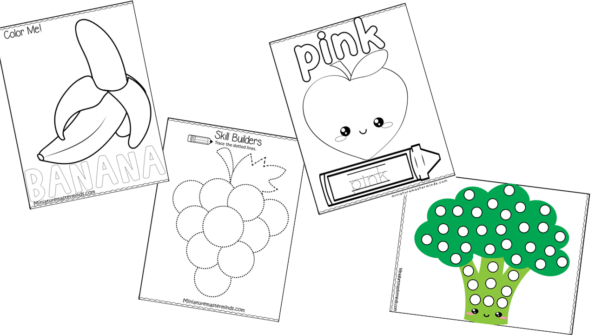Fruits And Vegetables Preschool And Kindergarten Printable Activity Pack –  Miniature Masterminds