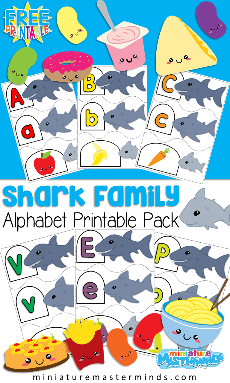 Shark Family Alphabet Puzzles Preschool and Kindergartners ...