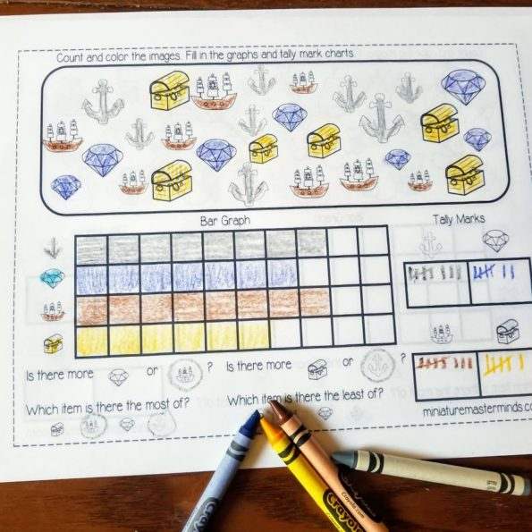 10 Free Printable Graphing Worksheets For Kindergarten And First Grade Miniature Masterminds