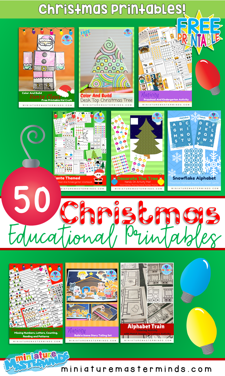 Getting Ready For Our 25 Days Of Christmas Educational Printables!
