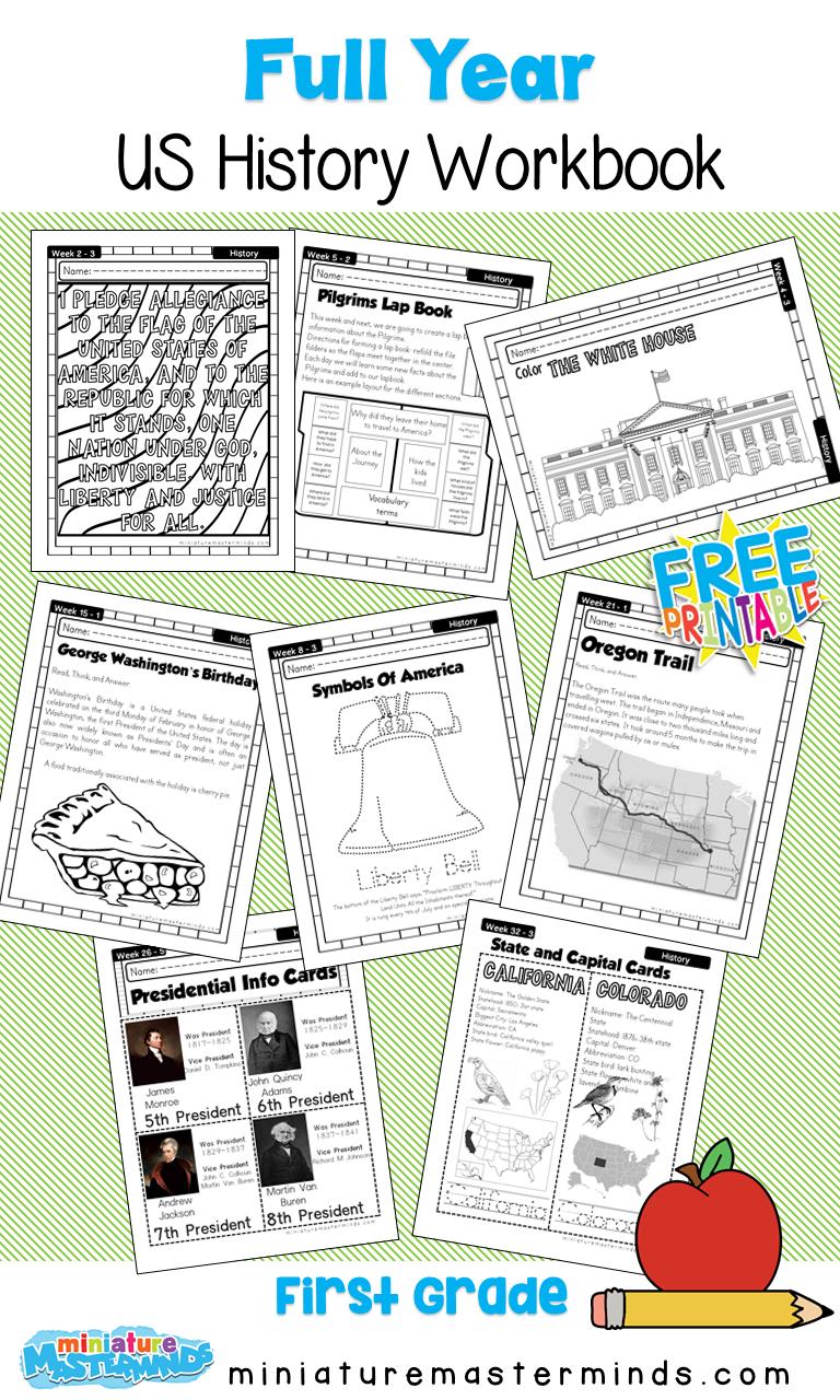 American History Work Book Ages 24 to 24 Free Printable Worksheets Throughout Second Grade Social Studies Worksheet