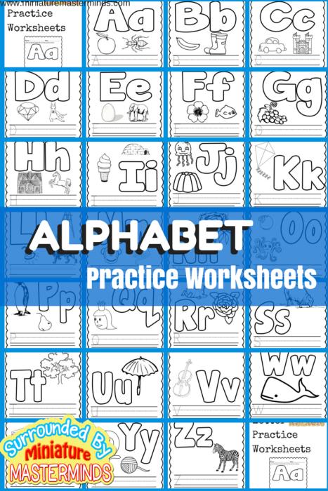 Basic Concept Alphabet Practice Worksheets Free Printables ...
