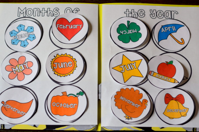 Number Names Worksheets months of the year activities for kindergarten : Months Of The Year Preschool/Kindergarten and First Grade File ...