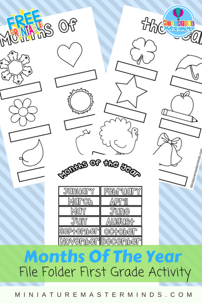 Months Of The Year Preschool/Kindergarten and First Grade ...