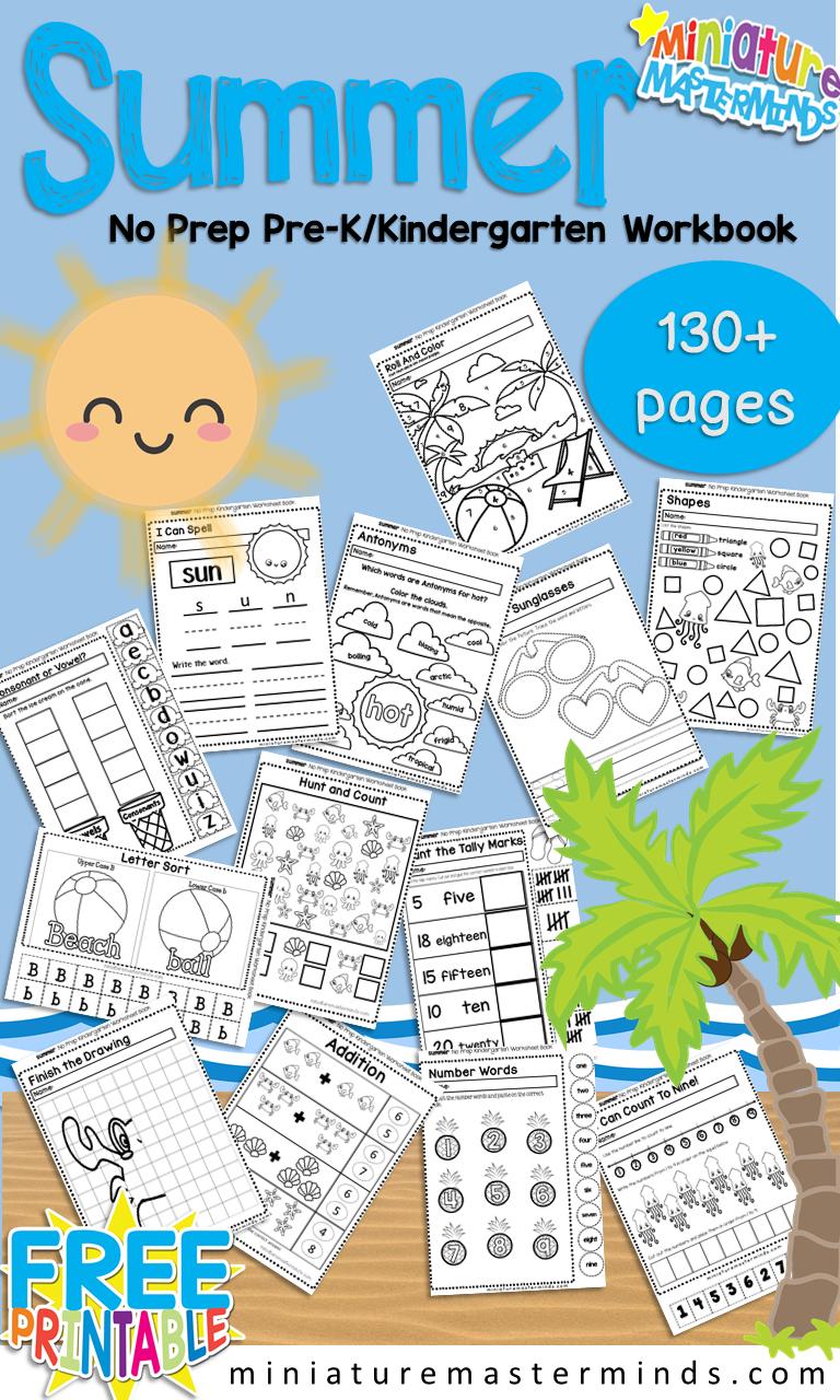 Summer No Prep Preschool and Kindergarten 130 Page ...