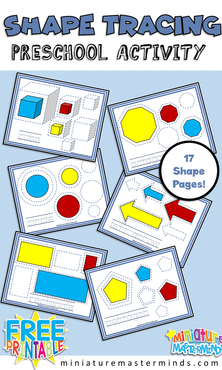 Shape Tracing Practice Activity For Toddlers and ...